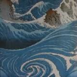 Utagawa Hiroshige - Onde e scogli